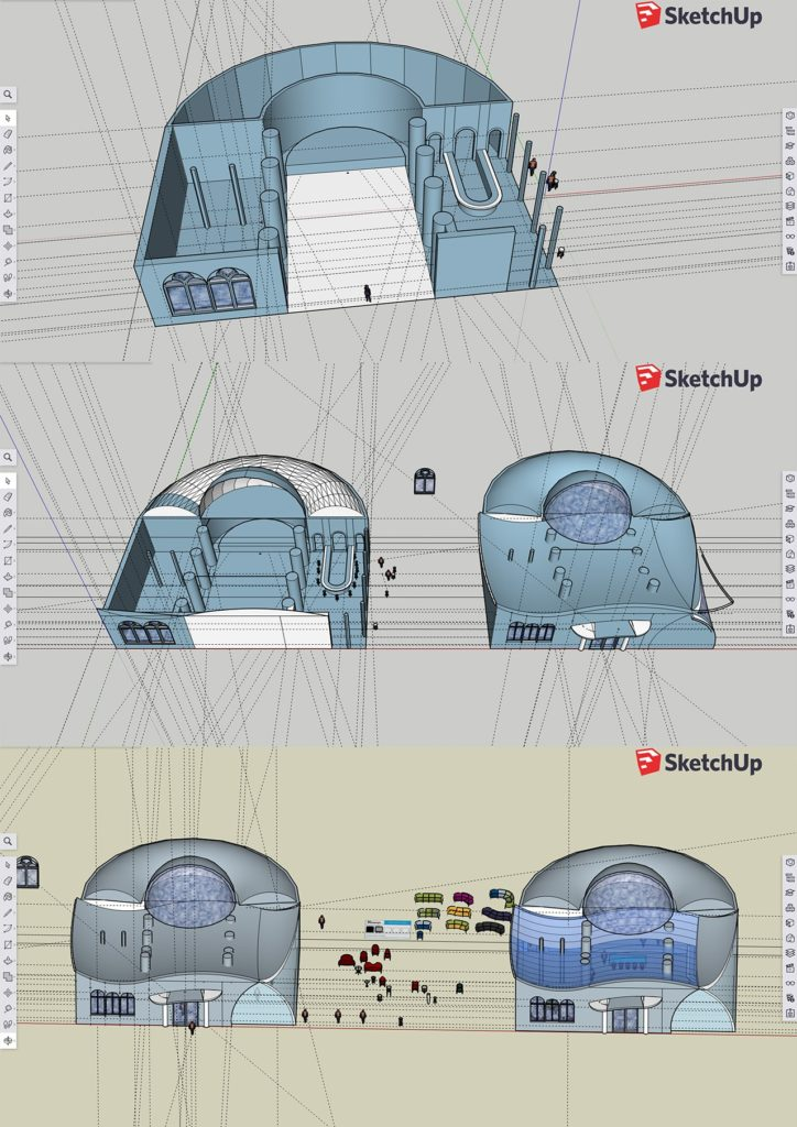 3D sketches for backgrounds